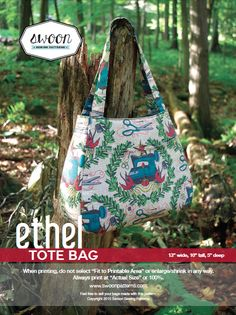 Looking for your next project? You're going to love Swoon Ethel Tote Bag by designer Swoon Patterns.