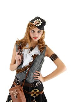 Steampunk Naval Officer Gray Hat by Elope Costumes 290715 #ElopeCostumes