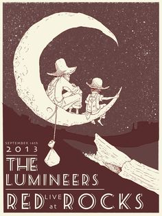 The Lumineers gig poster by Nicholas Sutton Bell