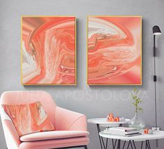 Teal blue canvas wall art coral color decor set of two prints bathroom Coral Wall Art, Coral Walls, Coral Living Rooms, Living Room Art, Blue Canvas, Canvas Wall Art, Coral Color Decor, Bedroom Decor For Couples, Bedroom Ideas