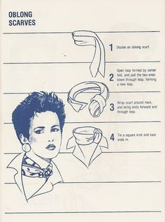 Nouer un foulard style vintage