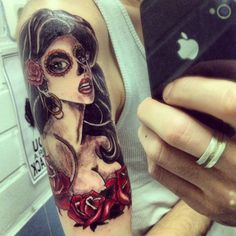 La muerte tattoo on my hand