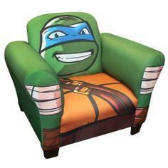 """Teenage Mutant Ninja Turtles Upholstered Chair - Leonardo - NEW Corp - Toys """"R"""" Us"""