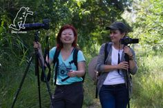 Passarinhando no PET - Parque Ecológico do Tietê - em São Paulo/SP com Claudia Komesu. Foto de Silvia Linhares em Março/14.