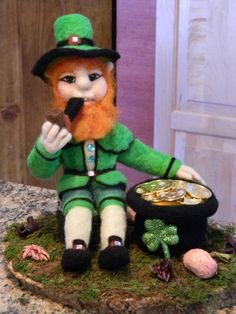 One of my felted Leprechauns