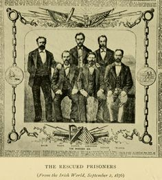 Thomas Darragh, Martin Hogan, Michael Harrington, Thomas Hassett, Robert Cranston and James Wilson.  Six Fenians rescued from Western Australia during the Catalpa Rescue
