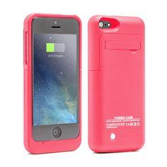 Funda con bateria para iphone5/5s/5c powercase rosa