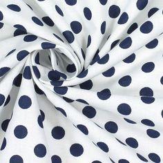 Classic Dots 0,9 cm, 5 - Bomull - marinblått