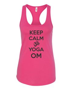Keep Calm and Yoga OM Tanktop by yogatops on Etsy
