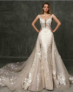 Haute couture wedding dresses can be replicated in a price range that . - Haute couture wedding dresses can be replicated in a price range that a bride up to a … Haute cou - Stunning Wedding Dresses, Custom Wedding Dress, Wedding Dress Trends, Dream Wedding Dresses, Wedding Attire, Beautiful Gowns, Bridal Dresses, Tulle Wedding, Wedding Dress Detachable Train