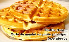 Receita doce e salgada de waffle dukan, bem proteico, ideal para a sua fase ataque. Ótimo para ser consumido durante o café da manhã.