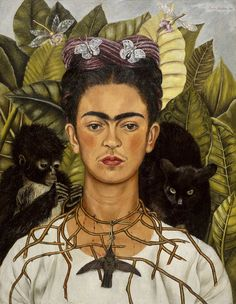 Frida Khalo - selfportrait  I <3 this self portrait, so beautiful and poetic.