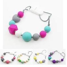 Newest Silicone Teething Pacifier clip for baby ,silicone teething pacifier baby necklace-in Chain Necklaces from Jewelry on Aliexpress.com   Alibaba Group
