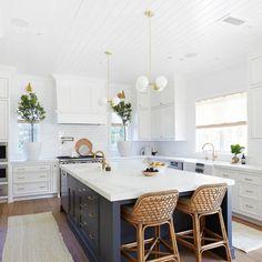 69 This Stunning All White Kitchen Renovation ~ My Dream Home Home Decor Kitchen, Diy Kitchen, Kitchen Interior, Home Kitchens, Coastal Kitchens, White Coastal Kitchen, Modern Kitchen White Cabinets, White Kitchen Designs, Modern French Kitchen