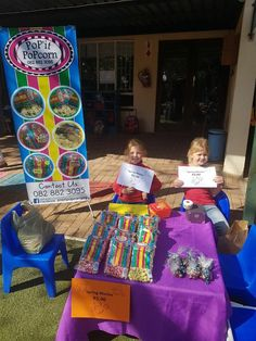 PoP'It PoPcorn sold at a local pre-school for entrepreneurs day