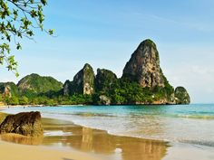 The largest collection of travel inspired photos and videos. Discover beautiful landscapes, vibrant cities and cultures . Krabi Thailand, Thailand Travel, Railay Beach Krabi, Hidden Beach, Travel Channel, Top Destinations, Beautiful Landscapes, Places To Go, Surfing