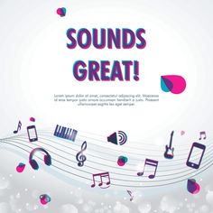 Sounds Great - Vector Graphic by DryIcons