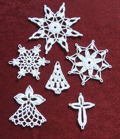 Weihnachtsdeko - Baumschmuck Häkelsterne Weihnachtsdeko - ein Designerstück von Haekeldesign-Gudrun bei DaWanda
