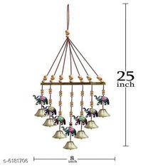 Wind Chimes Trendy Wall Decor Material: Paper Mache Pack: Pack of 1 Product Breadth: 20 cm Product Height: 48 cm Country of Origin: India Sizes Available: Free Size   Catalog Rating: ★4.3 (1457)  Catalog Name: Classy Religious Wall Hangings CatalogID_943507 C127-SC1619 Code: 471-6181706-333