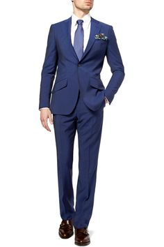 Hubba hubba. Husband material..I'm talking about the suit fabric, obviously. That's a royal look for sure!