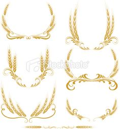 wheat wreath Royalty Free Stock Vector Art Illustration