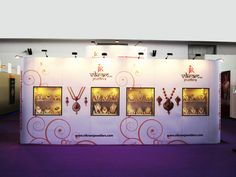 Spacious Portable Exhibition Stand for Vikram Jewellers. Contact us http://www.expodisplayservice.ae/contactus.asp