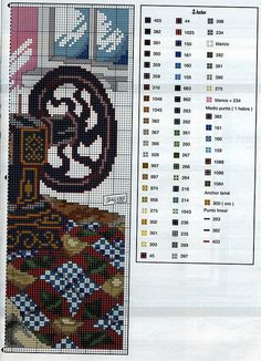 Cross-stitch Vintage Sewing Machine, part 2... with the color chart