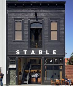 Discover ideas about café san francisco. Design Studio, Cafe Design, Store Design, House Design, Signage Design, Design Room, Shop Front Design, Cafe Bar, Stable Cafe