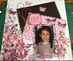 Kaisercraft Violet Crush layout Scrapbook Layouts, Scrapbook Pages, Craft Projects, Craft Ideas, Wedding Scrapbook, November 2015, Mixed Media, Frame, Easy