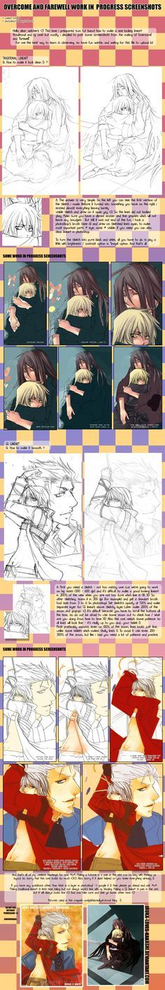 +LINEART tutorial and WIP + by goku-no-baka.deviantart.com on @deviantART ✤ || CHARACTER DESIGN REFERENCES | キャラクターデザイン | çizgi film • Find more at https://www.facebook.com/CharacterDesignReferences & http://www.pinterest.com/characterdesigh if you're looking for: #line #art #lineart #animation #how #to #draw #drawing #tutorial #lesson #balance #sketch #inking #anatomy #line #art #comics #tips #cartoon || ✤