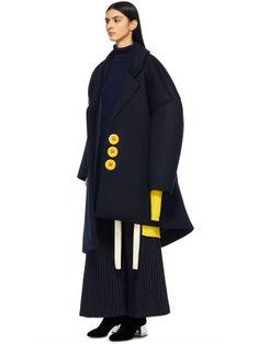 Пальто-oversize сложного кроя