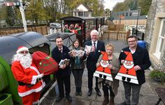 It was full steam ahead for Christmas this week at South Tynedale Railway in Alston, as a special Santa stream train delivered charity Christmas cards and gifts to Tourist Information Centre staff in Eden District. The Christmas cards and gifts are on sale at local visitors centres to raise money for Cards for Good Causes (CFGC) supported charities.