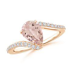 Angara Diamond Bypass Ring in Yellow Gold nUqg0XPYBf