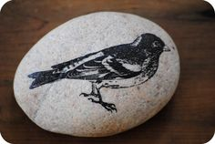 DIY tutorial for transferring images onto stone. Fun for the kids, too, with a little help.