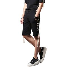 >> Click to Buy << Men Fashion Casual Shorts Elastic Waist Rope Short Trousers Male Slim Fit Shorts Street Hiphop Punk Style Stage Show Costumes #Affiliate
