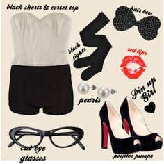 Pin-Up Girl Halloween Costume!!!  Already planning for next year..