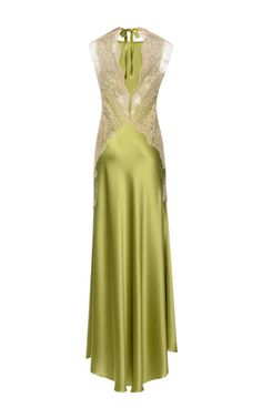 This **Alberta Ferretti** dress features a sheath silhouette with a jewel neckline.