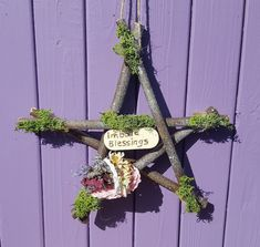 Your place to buy and sell all things handmade Pagan Altar, Wiccan, Magick, Willow Wood, Moon Witch, Sabbats, Pentacle, Flower Basket, Blue Moon