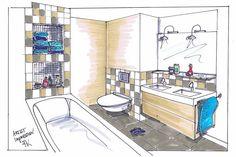Inkijkje in een badkamer