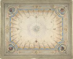Ceiling Design for the Boudoir, Ardgowan