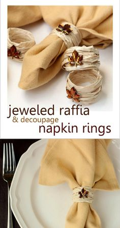 Make DIY napkin rings for fall using an unlikely supply - a balloon kit! These are so easy to make, budget friendly and look great on your autumn table.