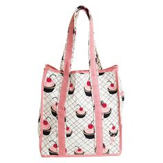 our iconic Cherry Cupcake print on our versatile Classic Tote