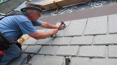 Tim Carter of AskTheBuilder.com may be installing a DaVinci Synthetic Slate roof this summer, but he is already prepping it for the New Hampshire winters with Snow Guards