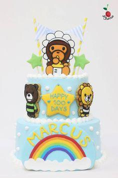 Baby Milo Monkey Cake Icing cookies decoration