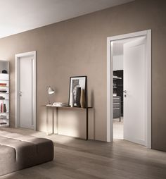 SUITE - Designer Internal doors from FerreroLegno ✓ all information ✓ high-resolution images ✓ CADs ✓ catalogues ✓ contact information ✓. Home Room Design, Living Room Designs, House Design, Down Ceiling Design, Painted Feature Wall, Flur Design, Internal Doors, Fashion Room, Room Colors