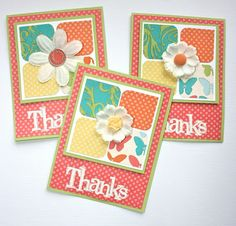 Dotty for you Thank you cards by Karen Pedersen