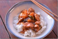 Crockpot Sweet and Sour Chicken - Hip Homeschool Moms - I'm subbing red peppers for the green.