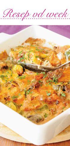 Butternut vegetable dish | Botterskorsie-groente-gereg #recipe #vegetarian