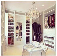 Glam closet space