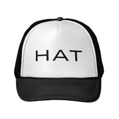 """A hat that says """"hat"""" (21 AUD) ❤ liked on Polyvore featuring accessories and hats"""